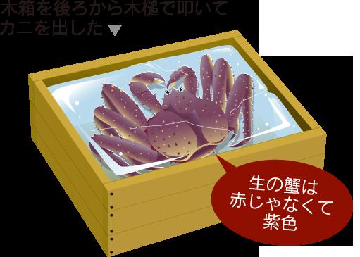 生的螃蟹而不是红是紫色